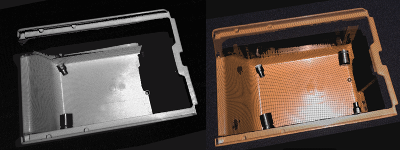 Bin occlusion point cloud example