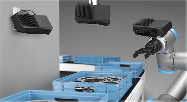 versatility 3d cameras on arm and stationary mounted