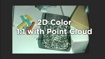 Zivid One Plus Small 2D color corresponds 1:1 with Point Cloud