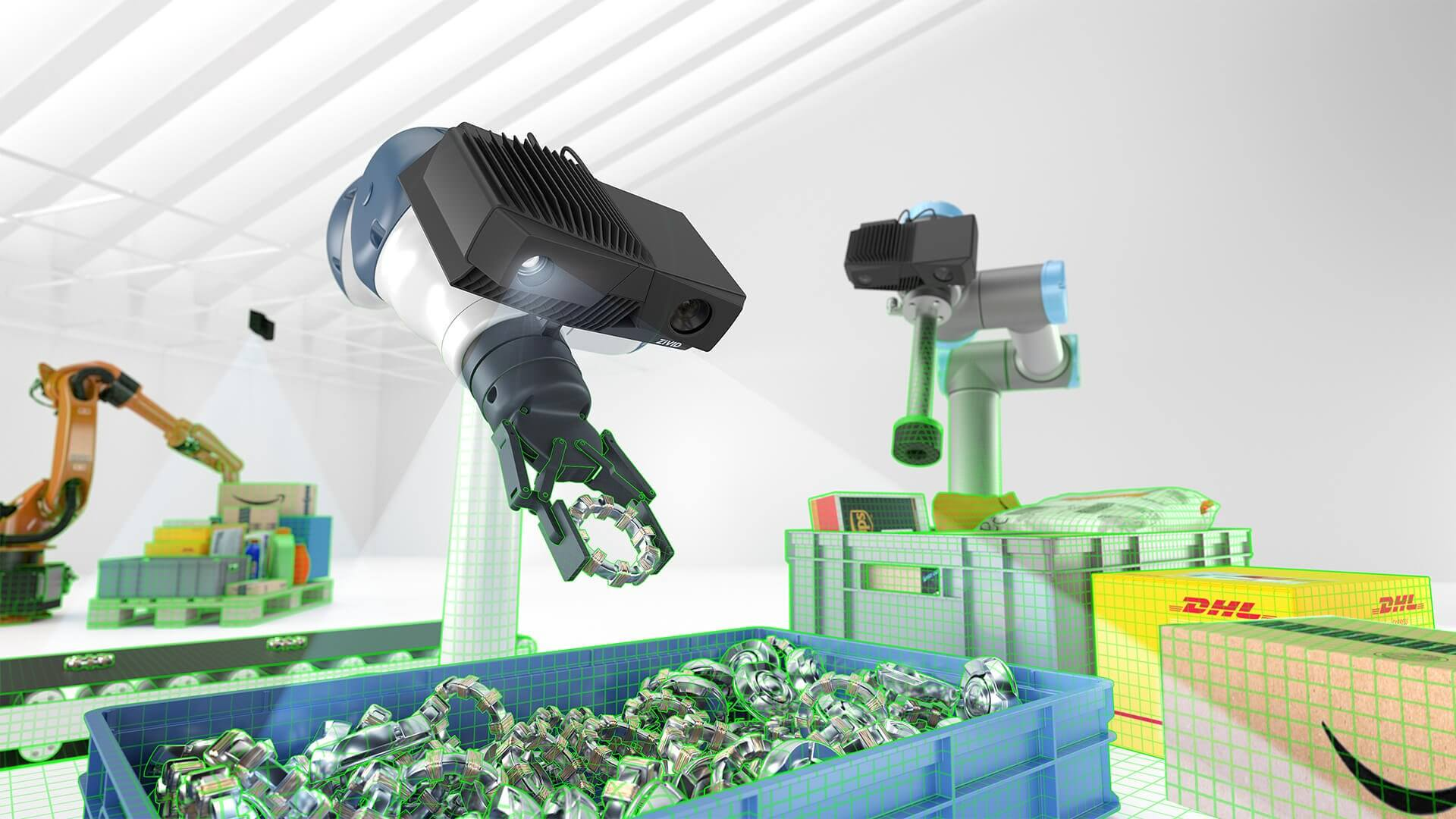 Zivid 3D cameras are used in logistics, bin picking and industrial automation
