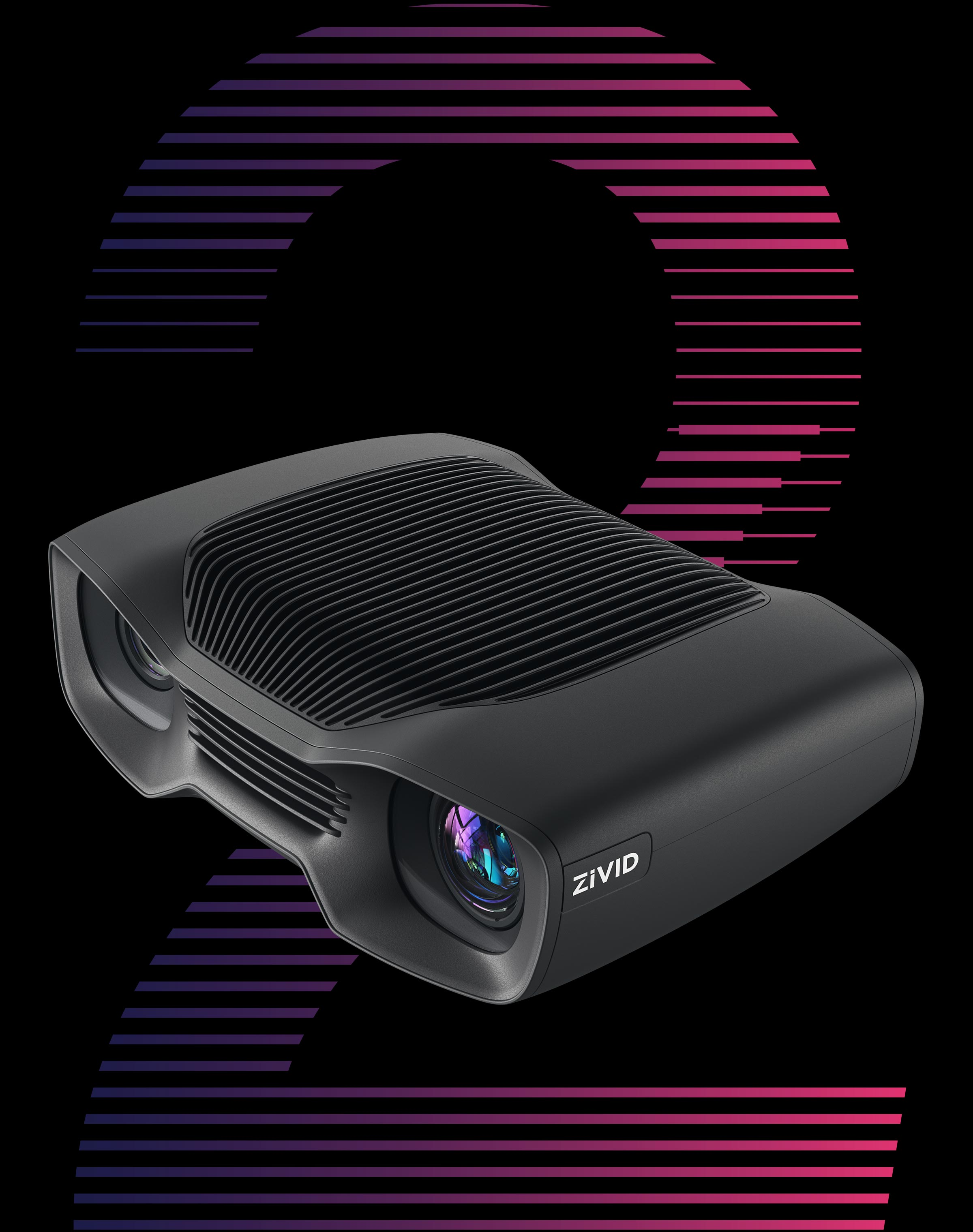 Zivid Two Industrial 3D color camera for bin-picking, assembly, and machine tending.