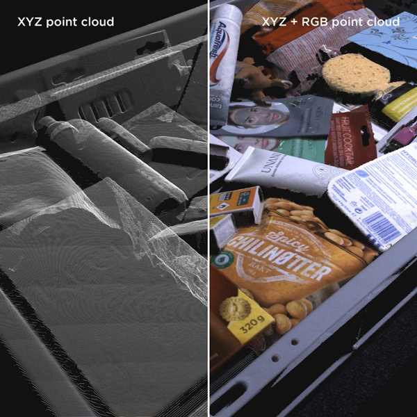 3D point cloud of various objects, SKUs, and parts Zivid