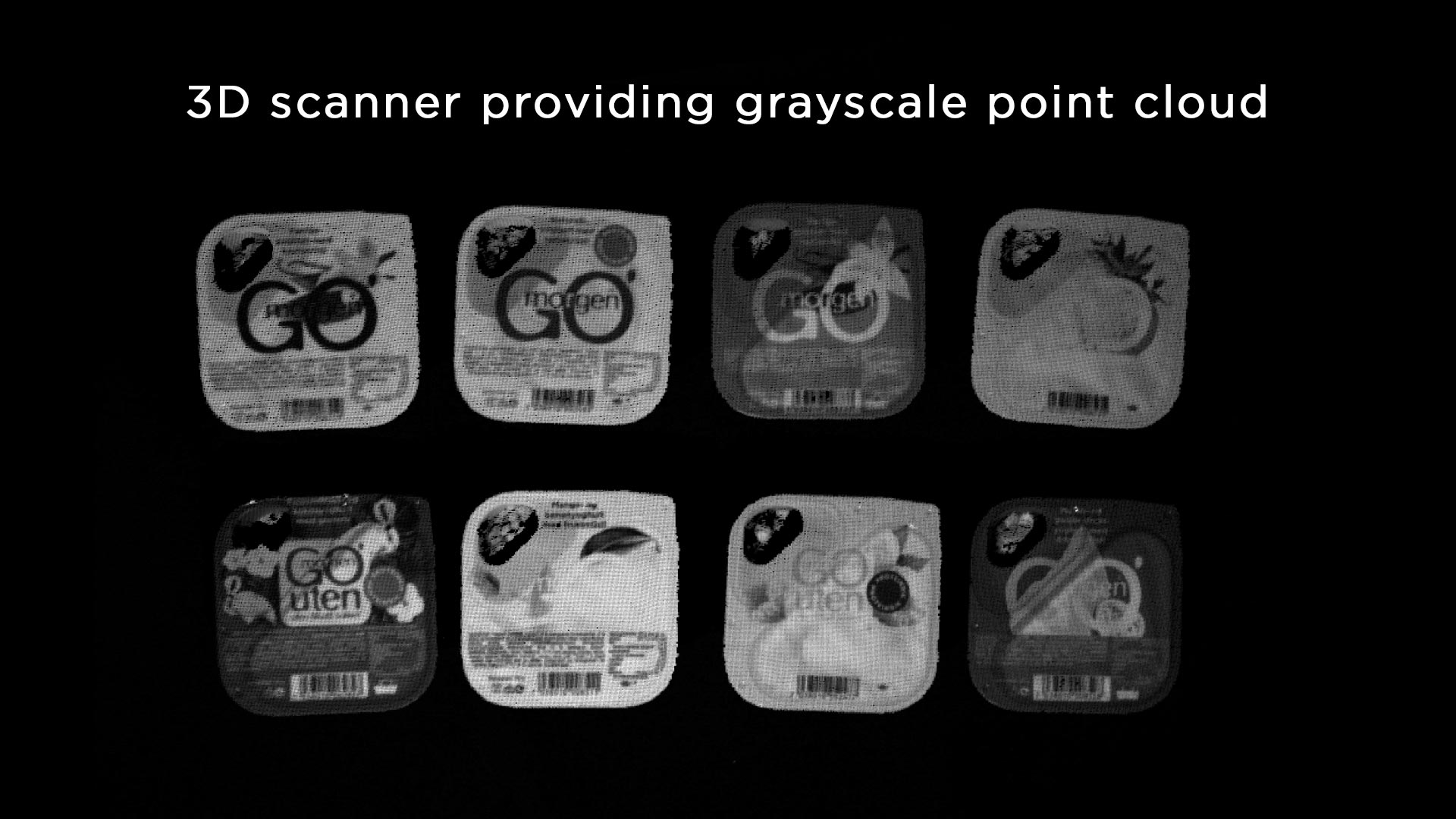Greyscale separate 3D bin-picking objects