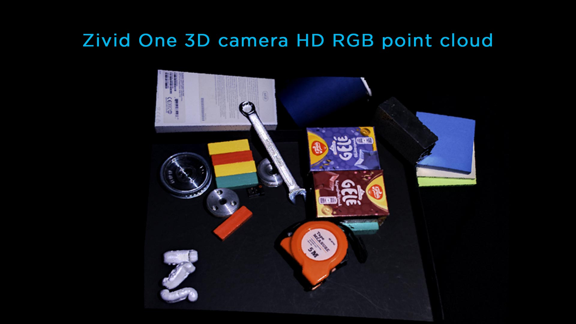 High definition color 3D bin-picking objects